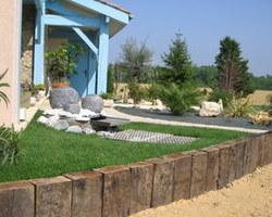 Dupouy Espaces Verts - HONTANX  - Aménagement autour d'une fontaine